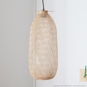 Suspension en bambou naturel Bloomingville