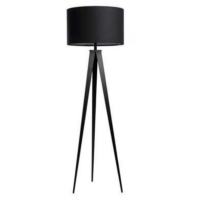 lampadaire tr pied en m tal et abat jour en polyester. Black Bedroom Furniture Sets. Home Design Ideas