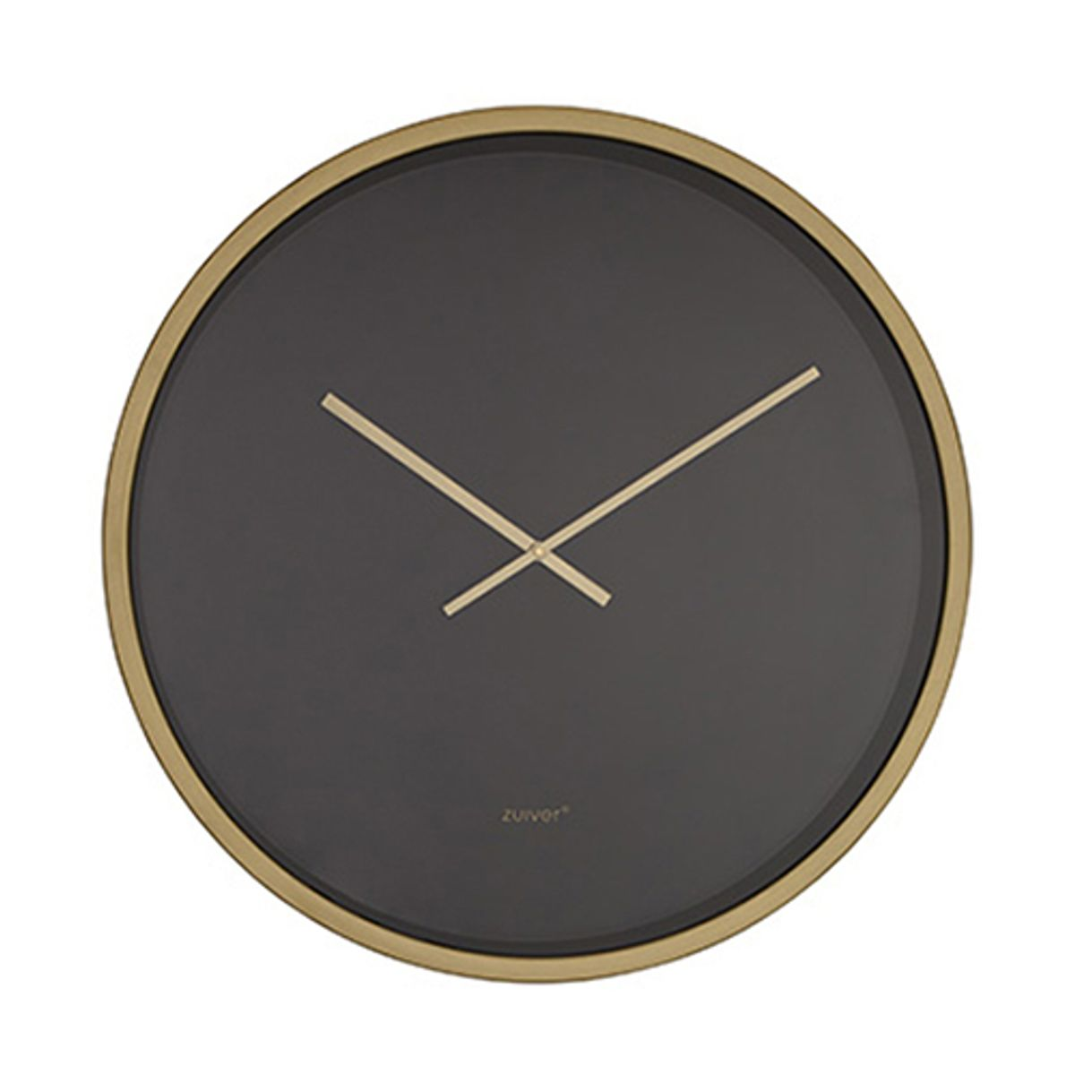 horloge en m tal noir et laiton d 60 cm bandit zuiver decoclico. Black Bedroom Furniture Sets. Home Design Ideas