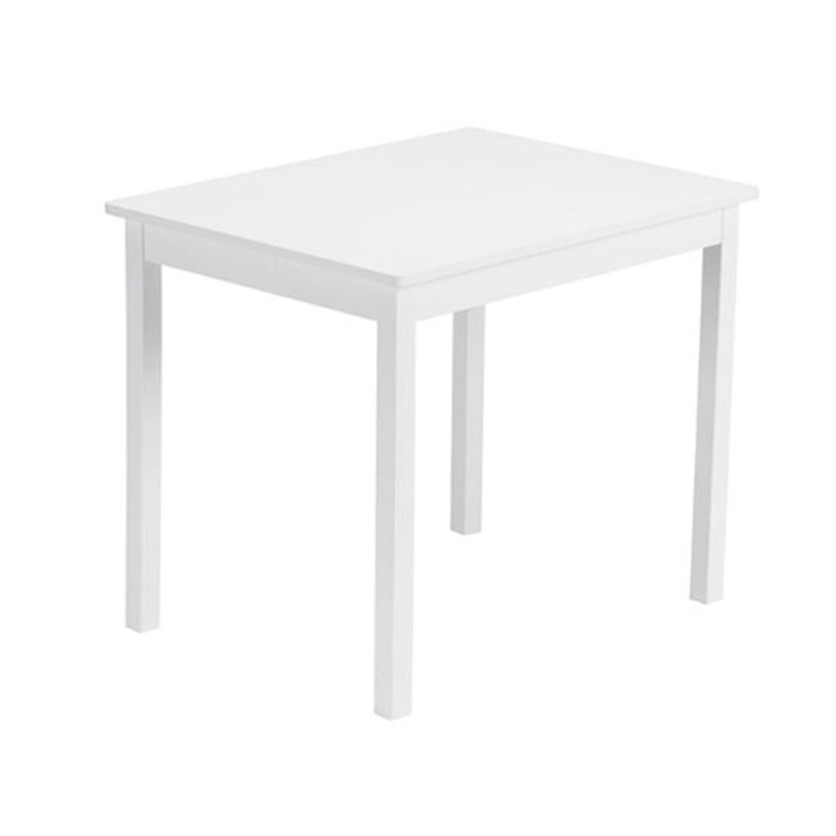 table enfant rectangulaire en pin blanc line kid 39 s concept decoclico. Black Bedroom Furniture Sets. Home Design Ideas