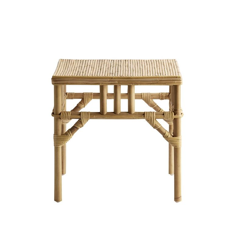 Table basse carrée en rotin naturel Tine K Home - PM