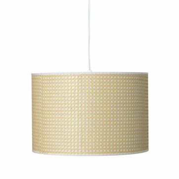 Suspension cannage en bambou naturel et plastique blanc Bloomingville