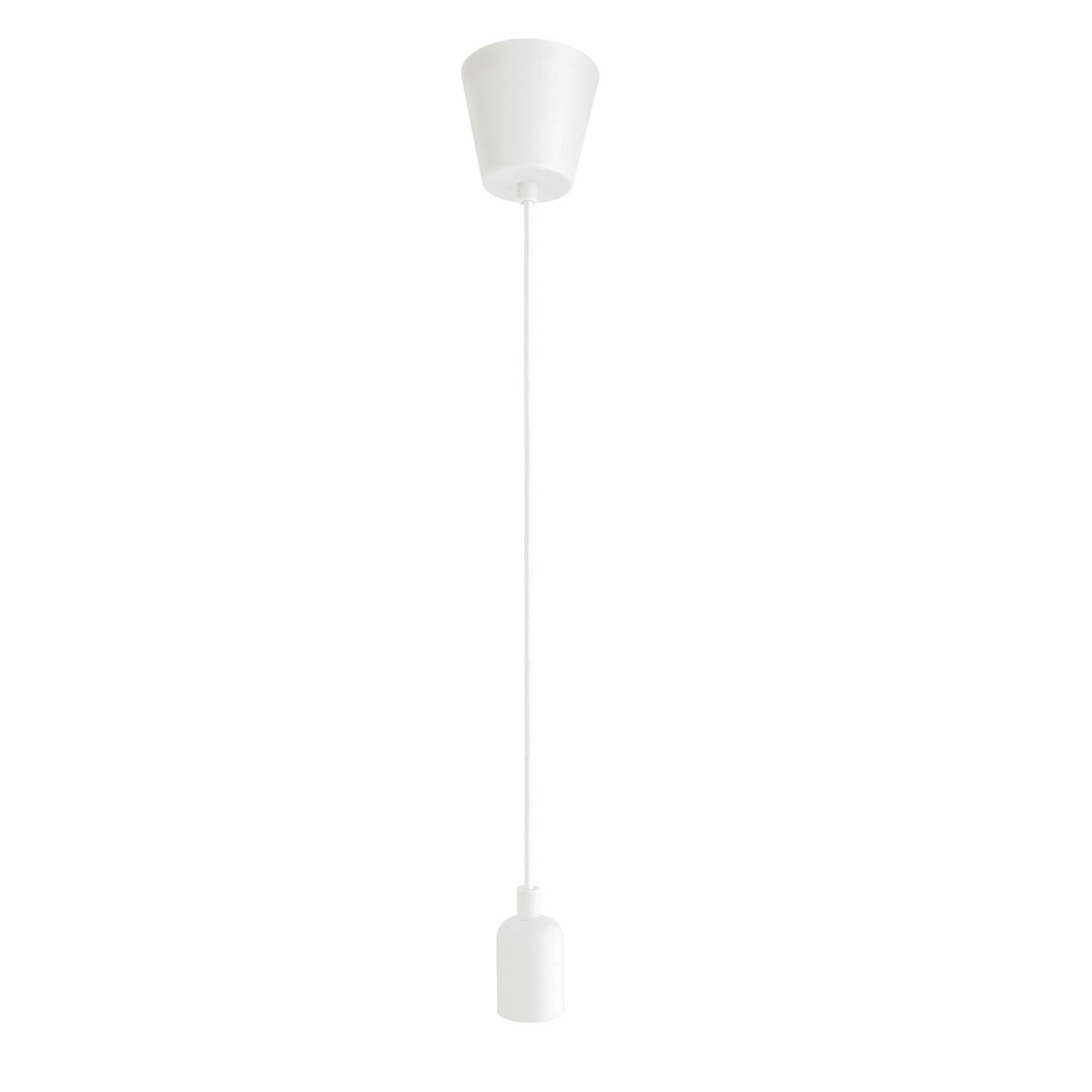 Suspension douille en silicone blanc Coloma Inspire