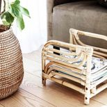 Porte-revues en rotin naturel House Doctor