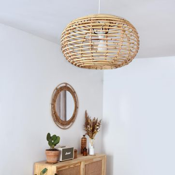 Suspension en rotin naturel Moka Casatera