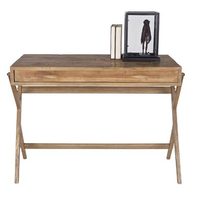 bureau en pin massif naturel avec 1 grand tiroir ecolier decoclico. Black Bedroom Furniture Sets. Home Design Ideas