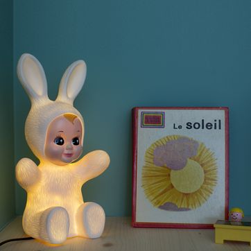 Lampe / veilleuse Bunny en vinyle Goodnight Light - Blanc