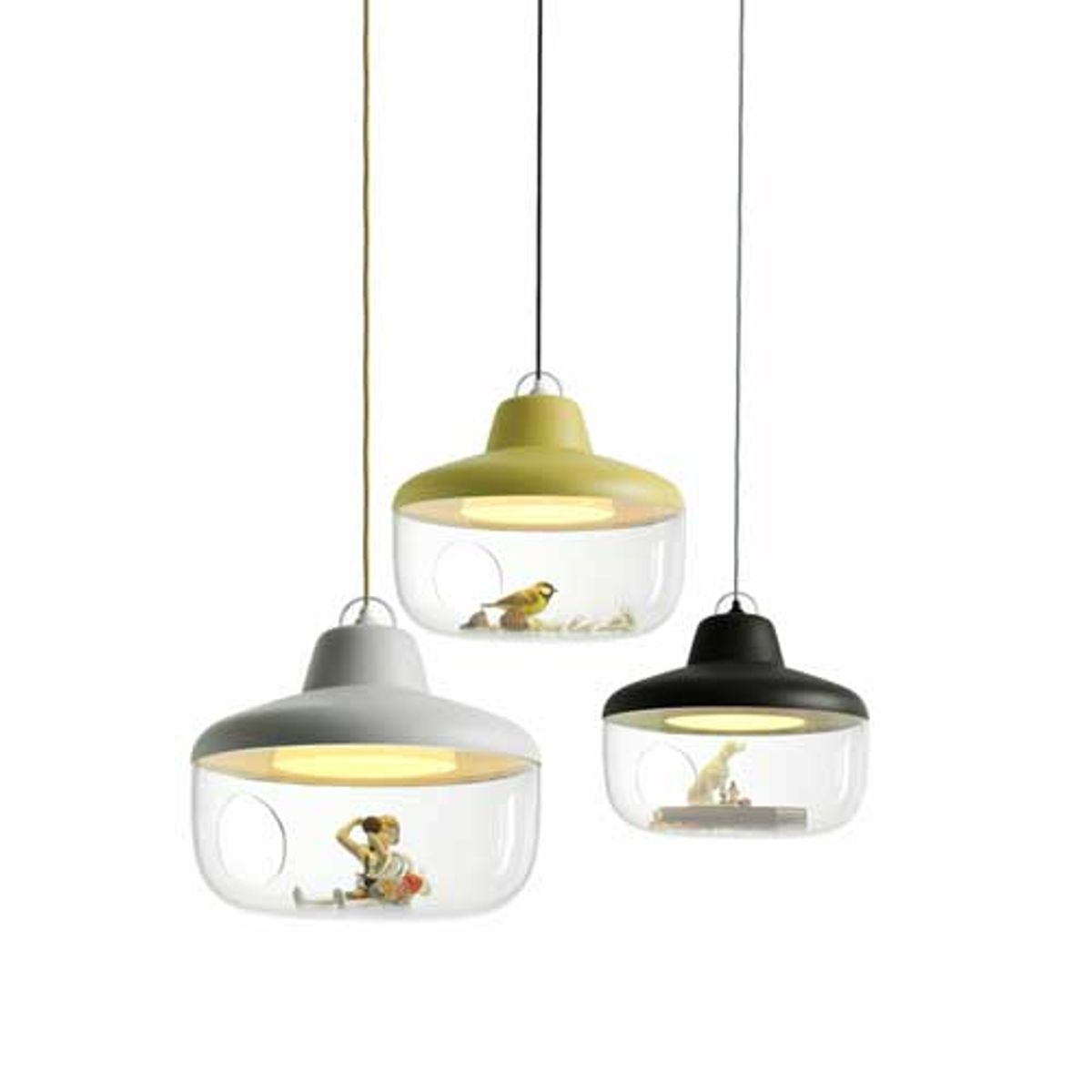 Suspension globe polyester Favorite Things Eno Studio - charbon