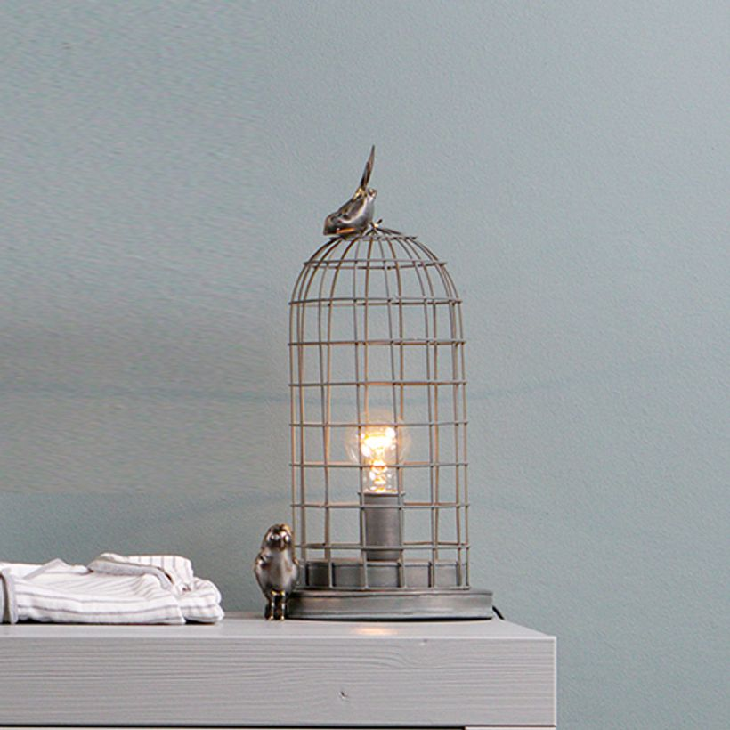 Lampe poser cage hive be pure en m tal filaire finition for Lampe a poser style industriel