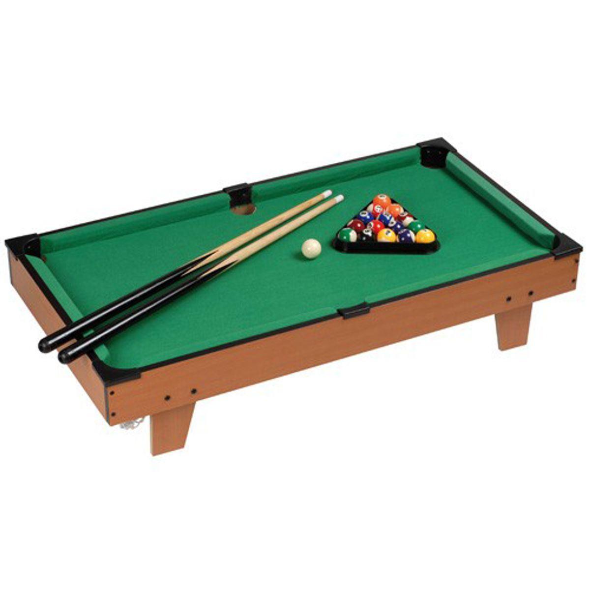 mini billard de table en bois avec brosse et craies la chaise longue decoclico. Black Bedroom Furniture Sets. Home Design Ideas