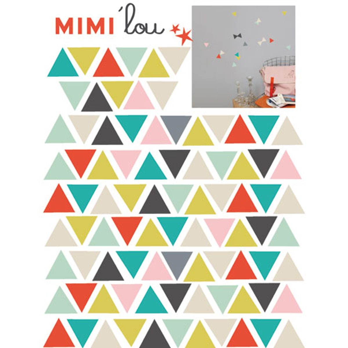 Stickers autocollants style scandinave Triangles Mimi Lou