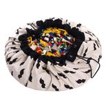 Sac de rangement / tapis de jeu en coton moustache Play and Go