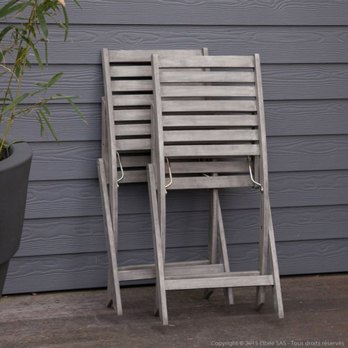 Stunning Salon De Jardin Corner Set Acacia Contemporary ...