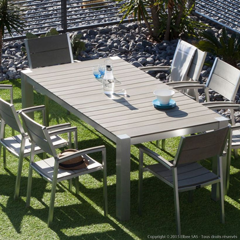 Best salon de jardin aluminium polywood images amazing for Table et fauteuil jardin
