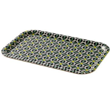 Plateau rectangulaire motif Julie vert Superliving