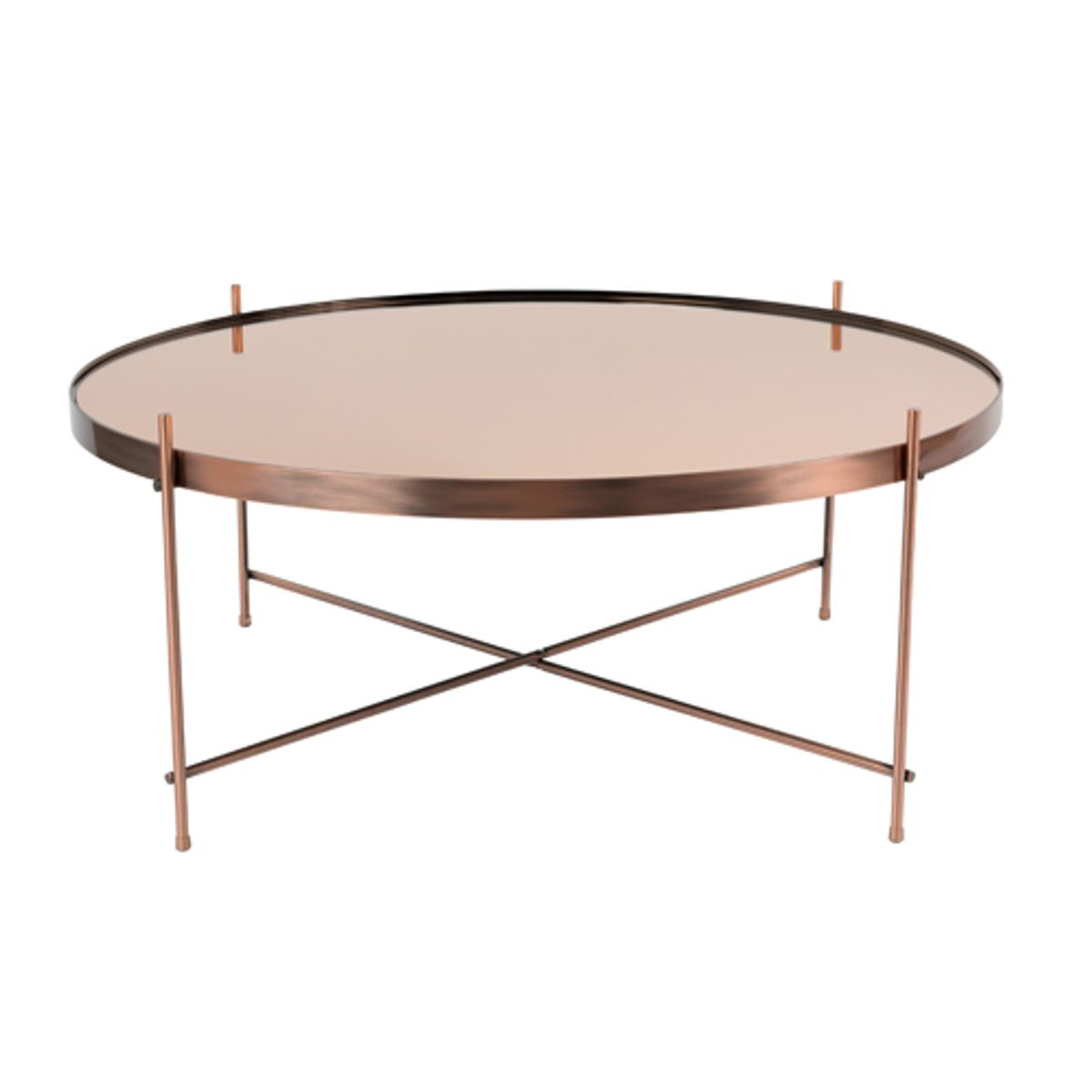 table basse ronde en m tal cuivr cupid zuiver decoclico. Black Bedroom Furniture Sets. Home Design Ideas