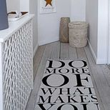 Tapis en coton beige Do more what makes you happy Bloomingville